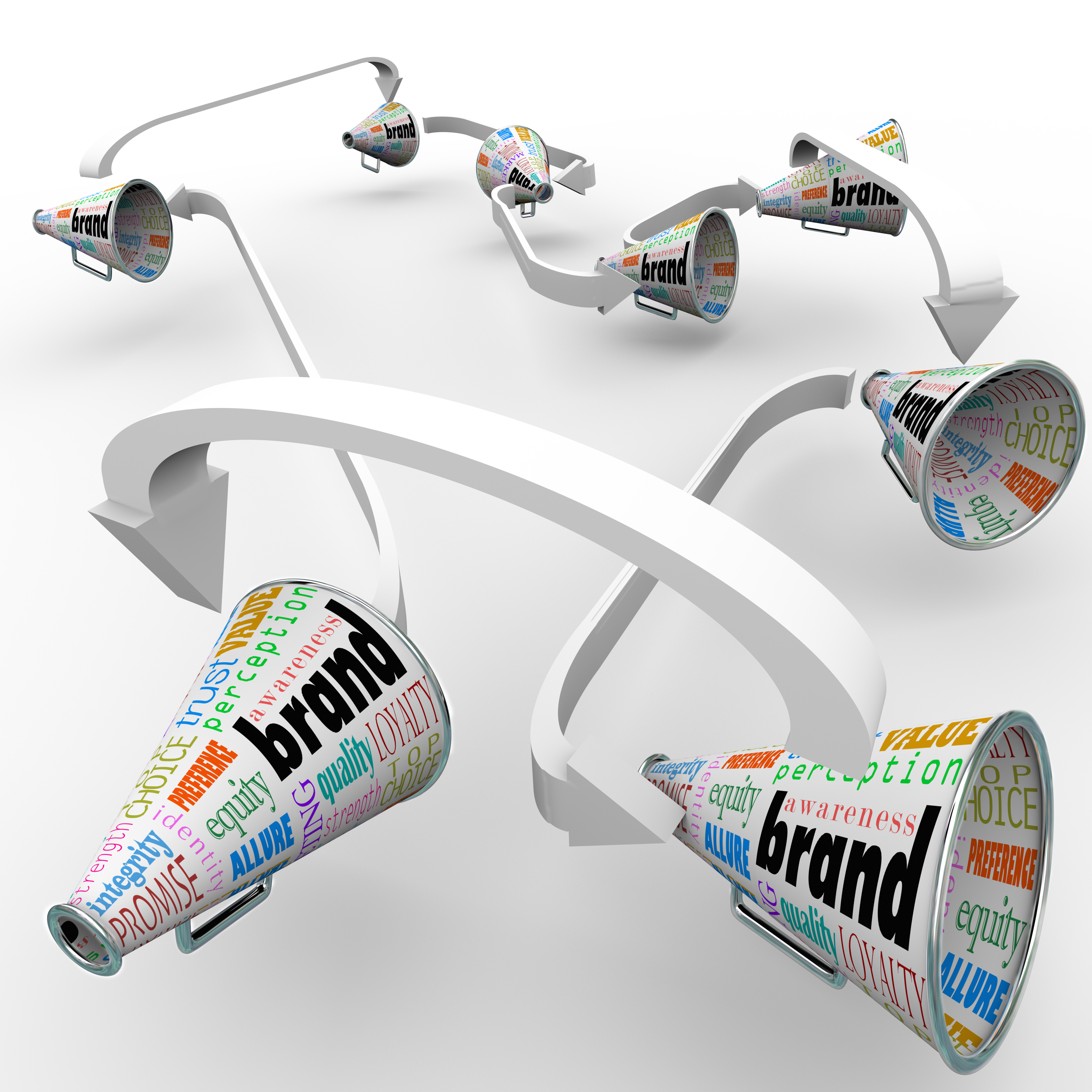 Brand Megaphones Bullhorns Connected Marketing Promotion